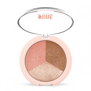 Golden Rose Nude Look Baked Trio Face Powder